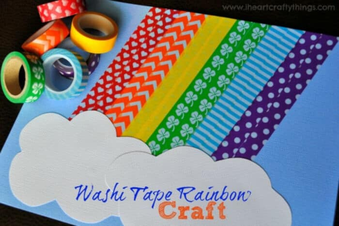 Washi Tape Rainbow Craft by I Heart Crafty Things