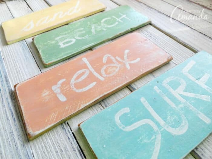 Weathered Beach Signs by Crafts by Amanda