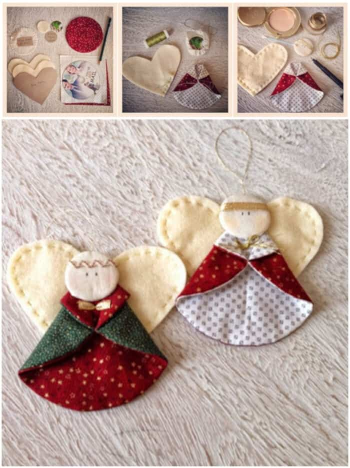 Wonderful DIY Cute Christmas Angel Ornaments by DIY and Crafts