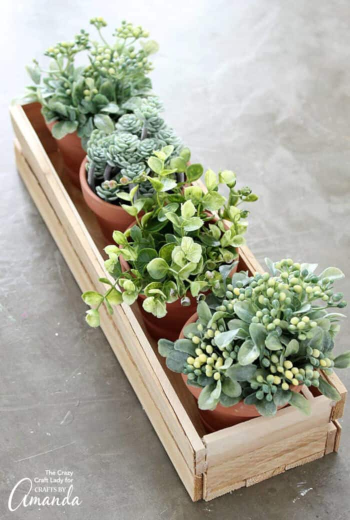 Wooden Planter Box by Crafts by Amanda