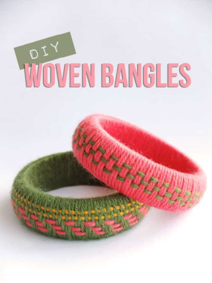 Woven Yarn Bangles by My Poppet Makes