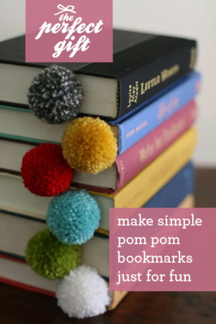 Yarn Ball Pom Pom Bookmark by Design Mom