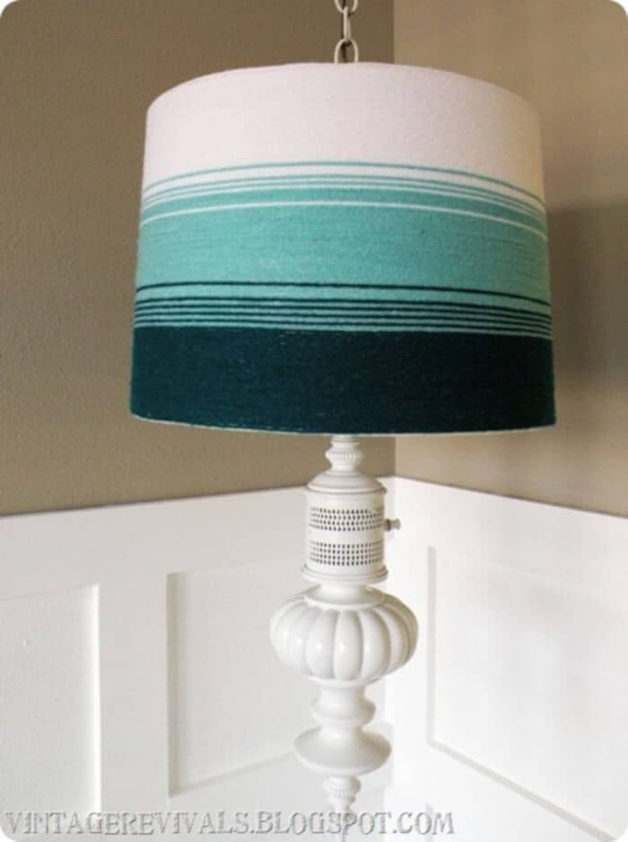 Yarn Ombre Lampshade by Vintage Revivals