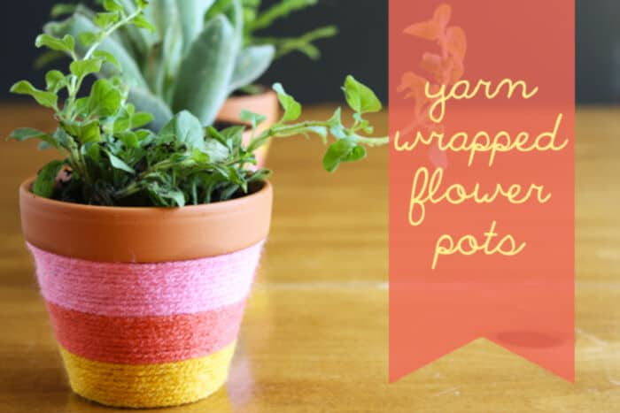 Yarn-Wrapped Flower Pots by Celebrations at Home