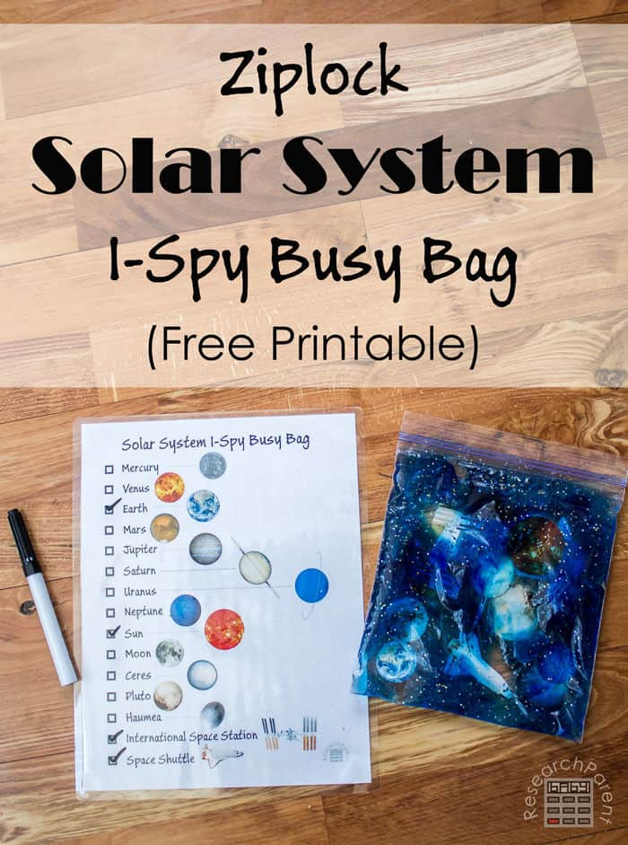 Ziplock Solar System by Research Parent