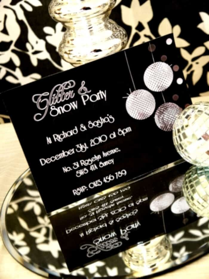 A Glitter And Snow New Years Eve Party by Birds Party