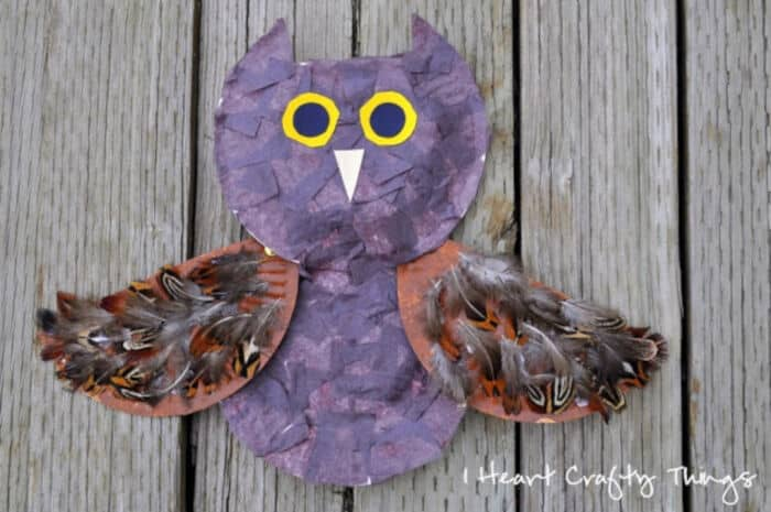 A Textured Owl Craft by I Heart Crafty Things