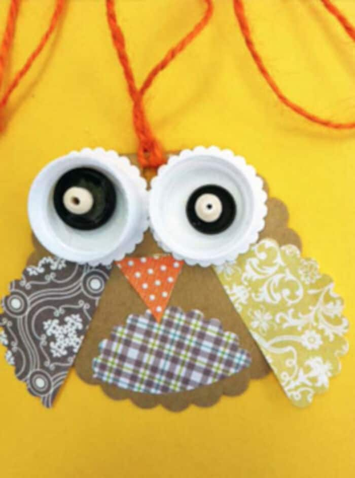 Baby Barn Owl Pendant by Small Hands Big Art