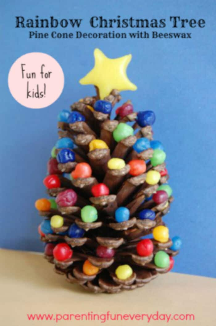 Beewax Pine Cone Christmas Trees by Educator 101