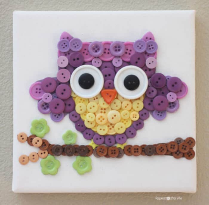 Button Owl Art by Repeat Crafter Me