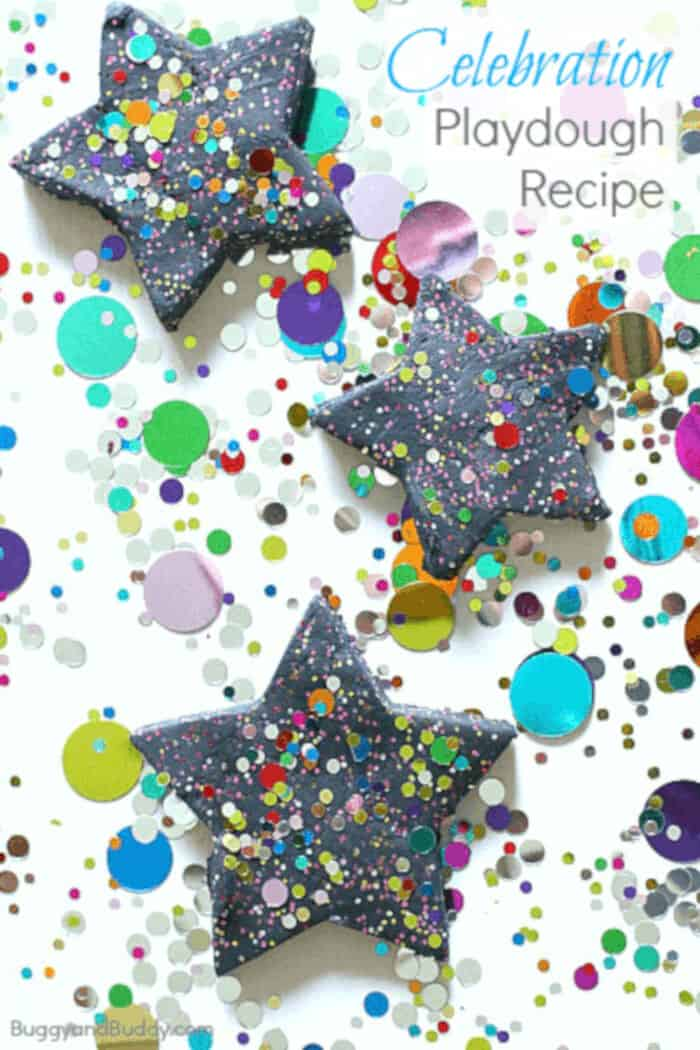 Celebration Playdough Recipe by Buggy and Buddy