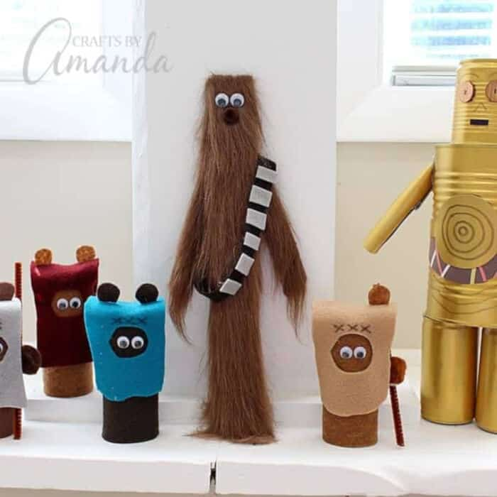Chewbacca Craft from a Paint Stir Stick by Crafts by Amanda