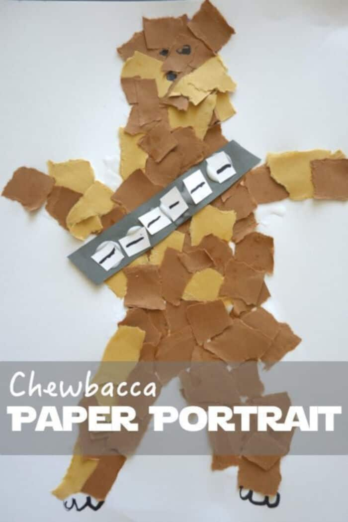 Chewbacca Paper Portrait by Geek Mom