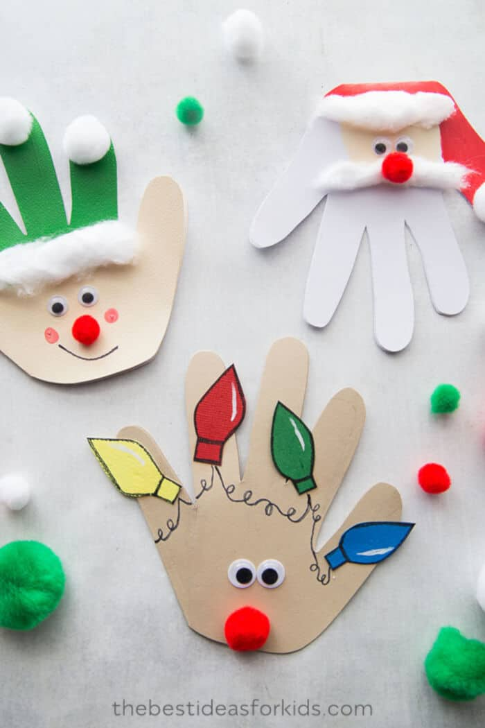 Christmas Handprint Cards by The Best Ideas for Kids