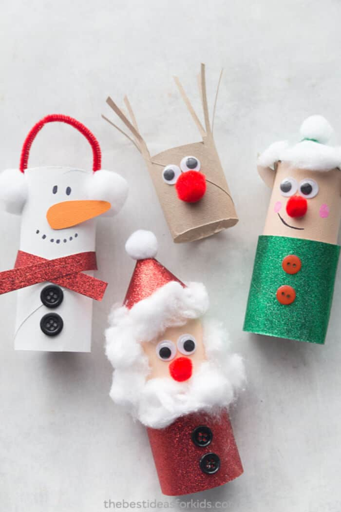 Christmas Toilet Paper Roll Crafts by The Best Ideas for Kids