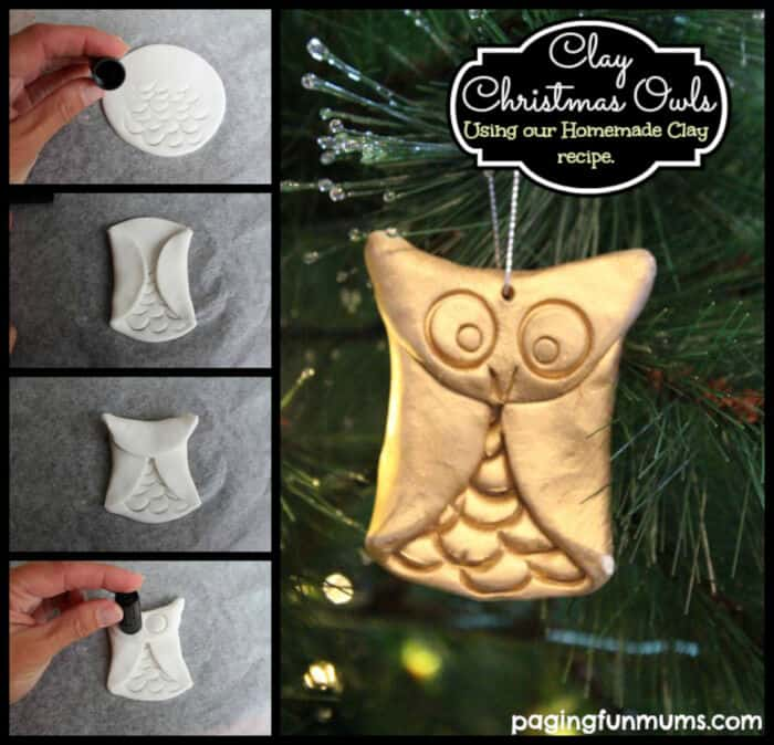 Clay Christmas Owls by Paging Fun Mums
