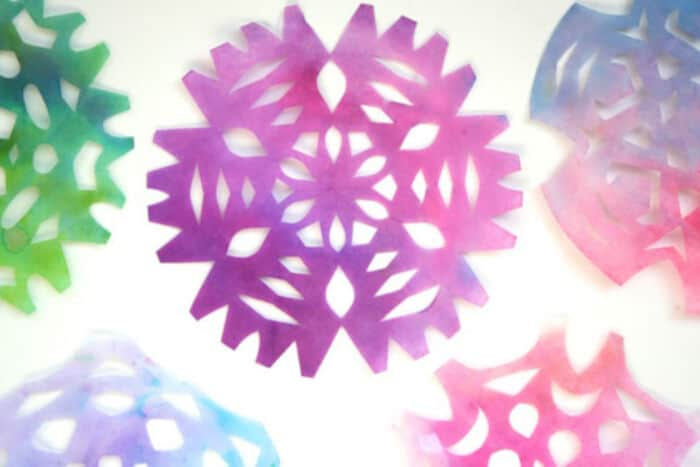 Coffee Filter Snowflakes by CBC Parents