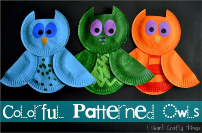 Colorful Patterned Owls by I Heart Crafty Things