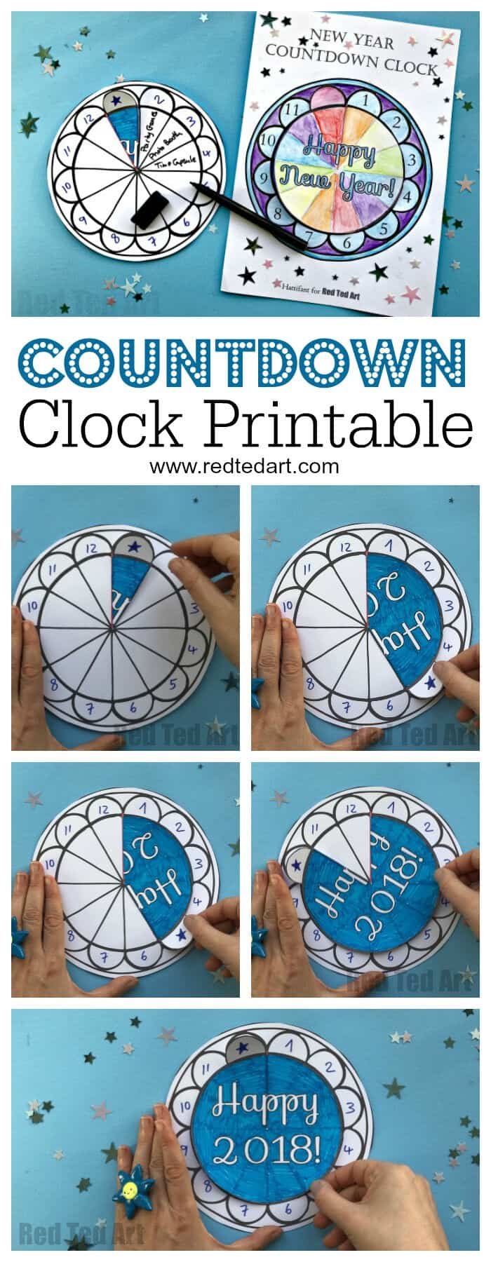 Countdown Clock Printable by Red Ted Art