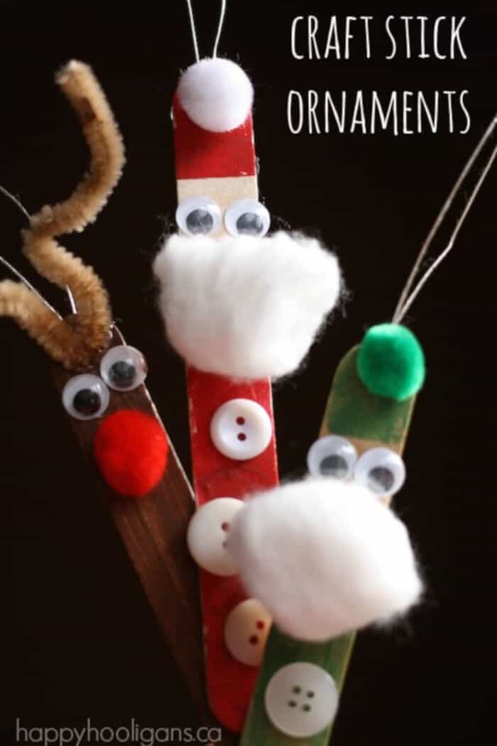 Craft Stick Ornaments by Happy Hooligans