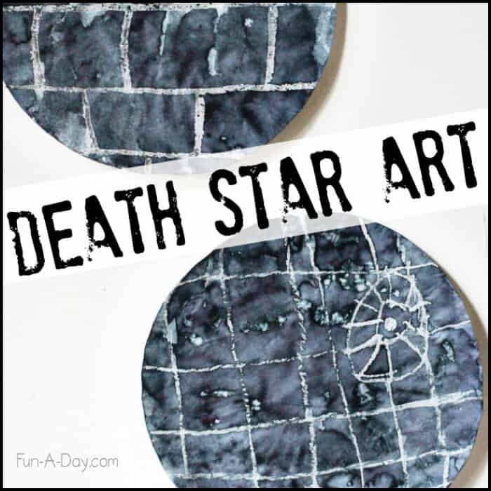Crayon Resist Death Star by Fun-A-Day