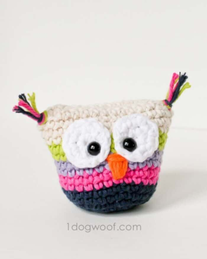 Crochet Owl Pouch by One Dog Woof