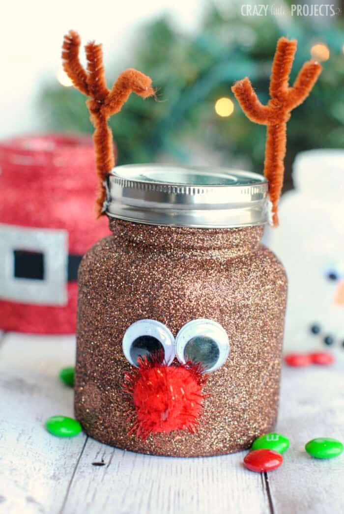 Cute Mason Jar Crafts for Kids by Crazy Little Projects