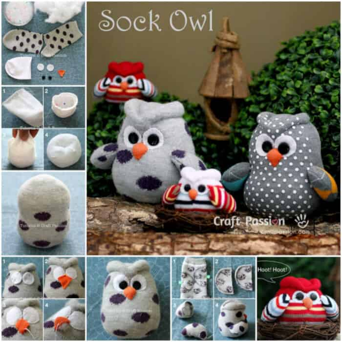 DIY Adorable Sock Owl by Bees DIY