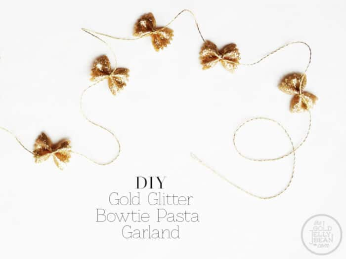 DIY Bowtie Pasta Garland by The Gold Jellybean