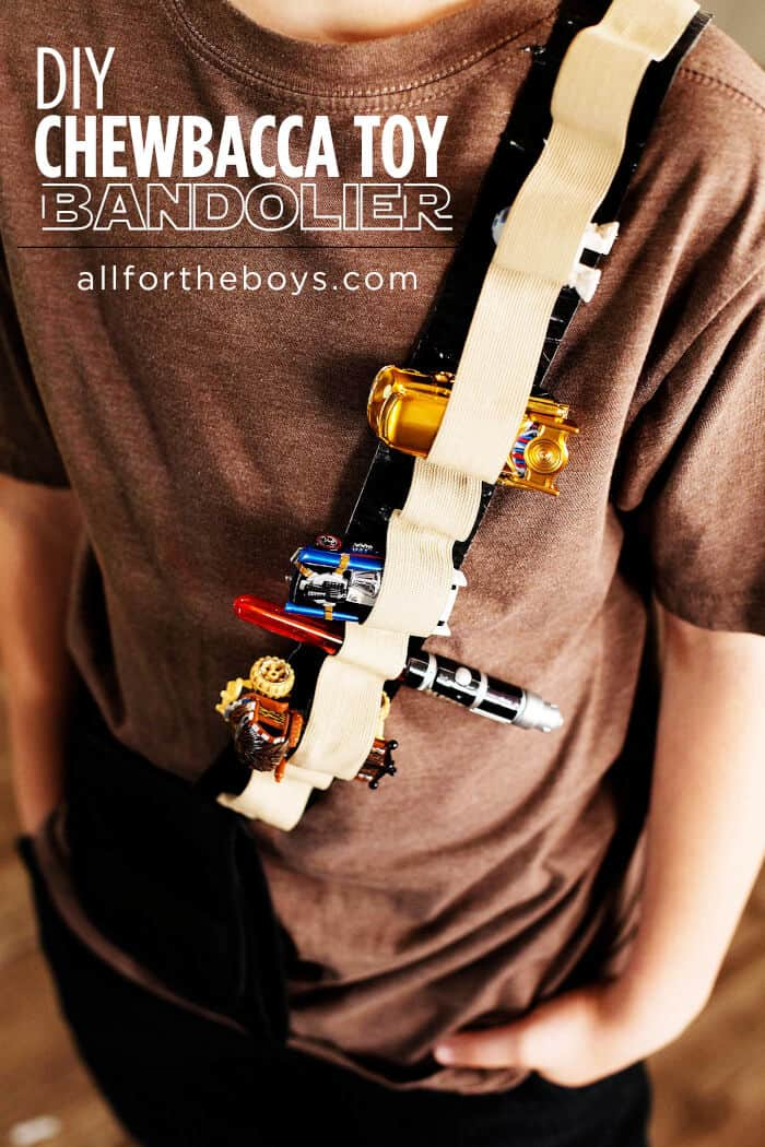 DIY Chewbacca Toy Bandolier by All for the Boys