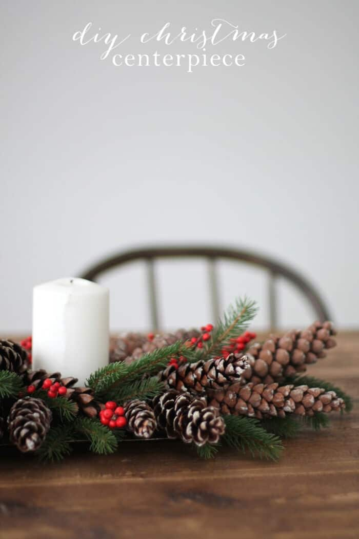 DIY Christmas Centerpiece by Julie Blanner