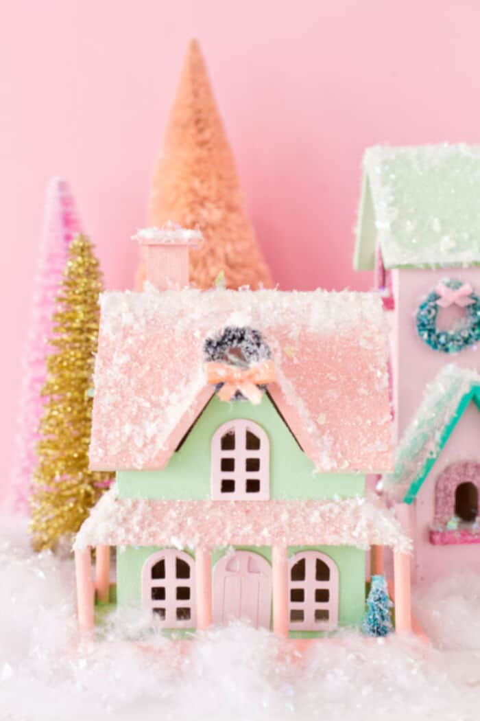 DIY Colorful Christmas Village by Studio DIY