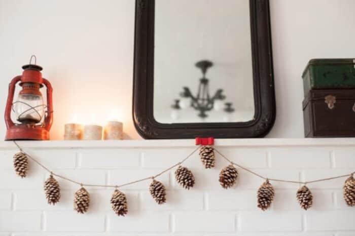DIY Gold Leaf Pine Cone Garland by The Sweetest Occasion