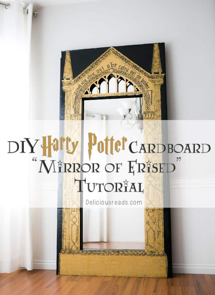 DIY Harry Potter Cardboard Mirror of Erised by Delicious Reads