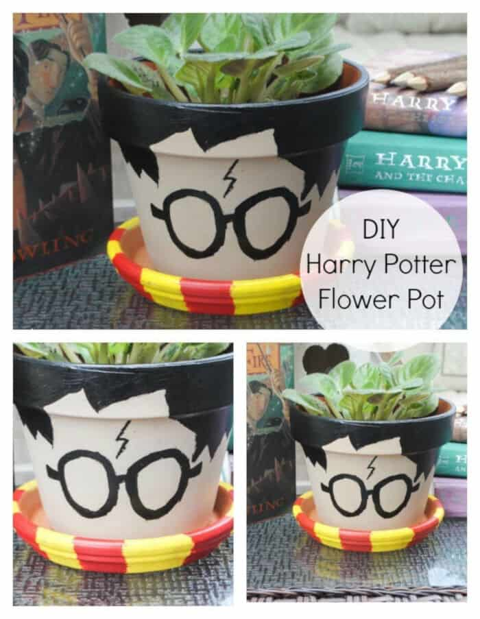 DIY Harry Potter Flower Pot by Beatnik Kids