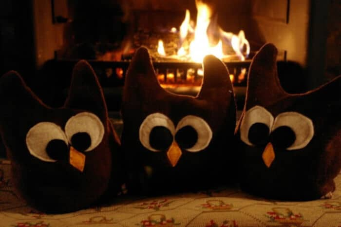 DIY Heat-Up Snuggly Brown Owls by The Londoner