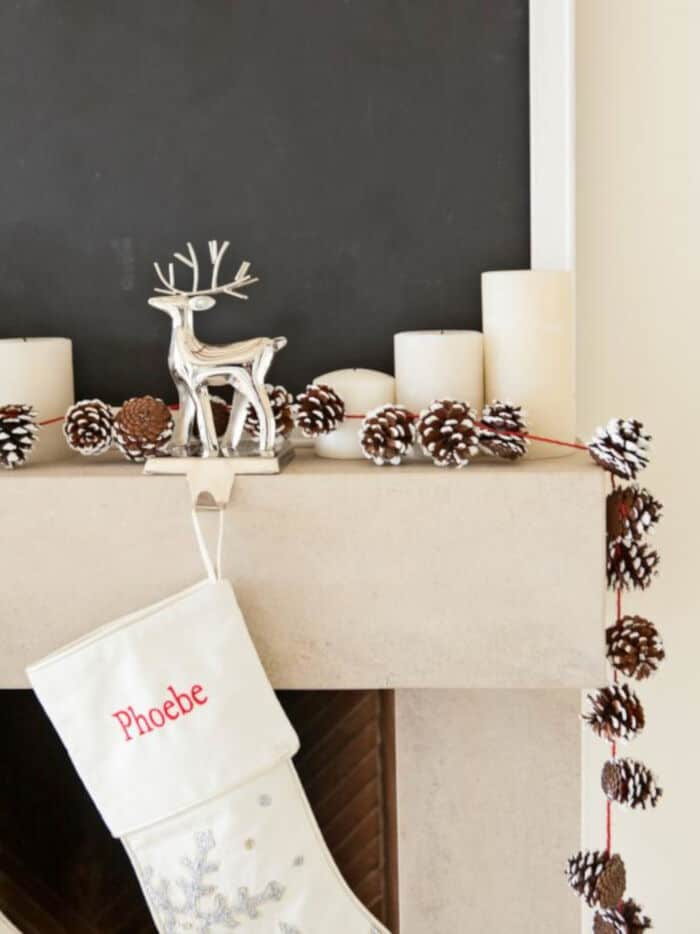 DIY Holiday Pinecone Garland by HGTV