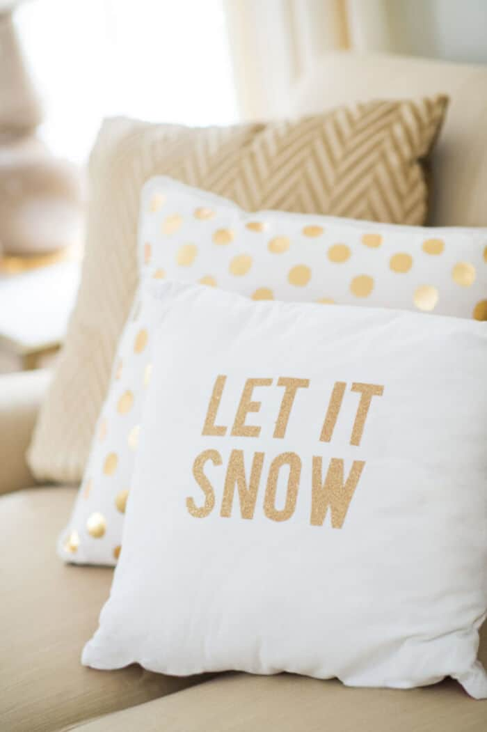 DIY Holiday Throw Pillows by Style Me Pretty
