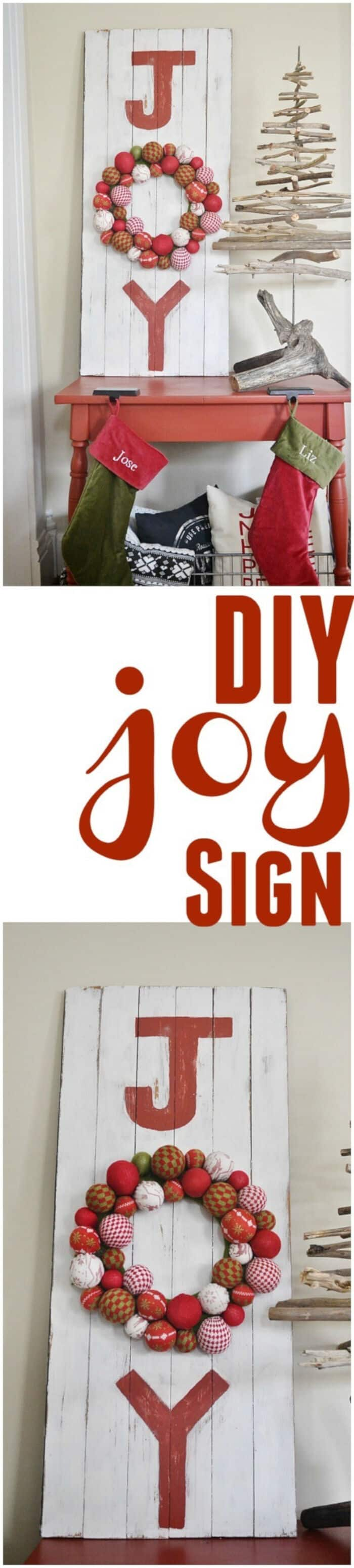 DIY Joy Sign by Liz Marie