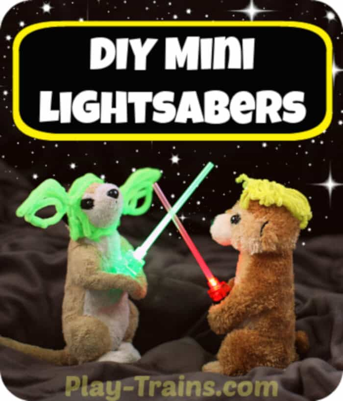 DIY Mini Lightsabers by Play Trains
