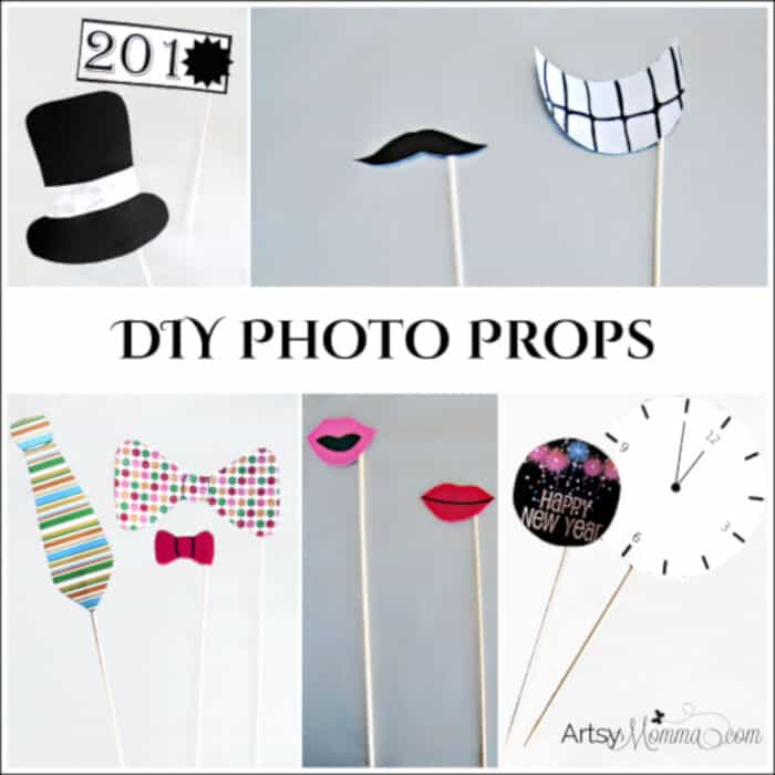 DIY New Years Photo Props by Artsy Momma