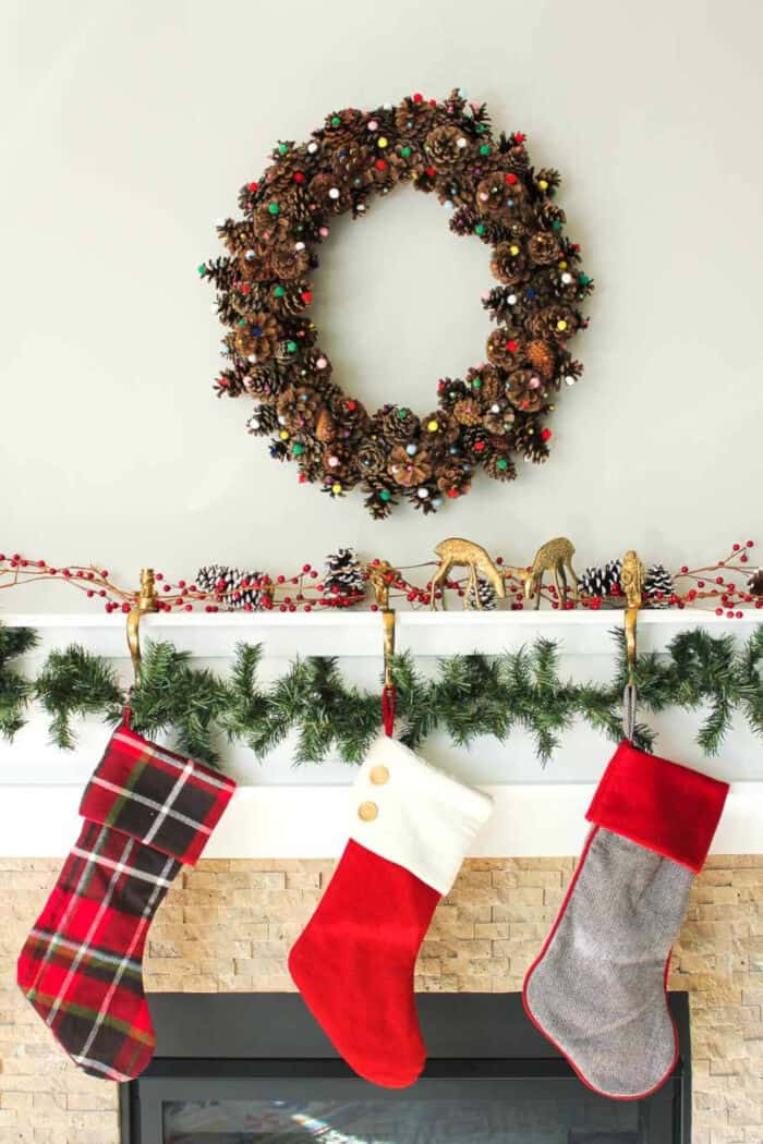 DIY Pinecone Wreath by Make and Do Crew