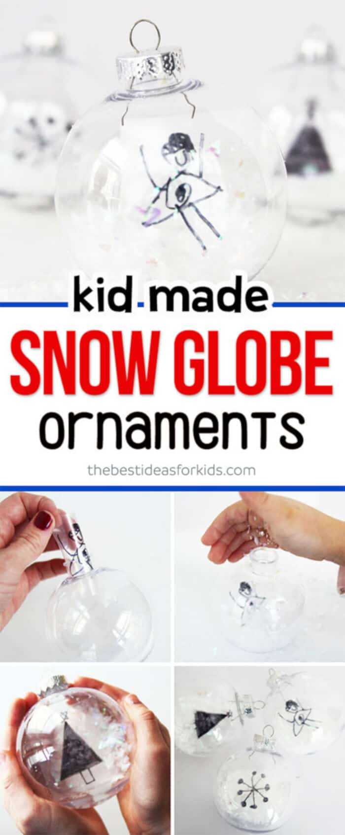 DIY Snow Globe Ornaments by The Best Ideas for Kids