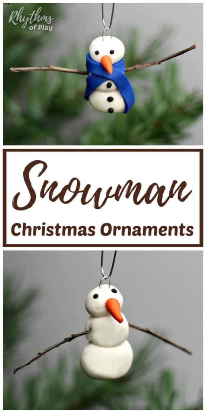 DIY Snowman Ornaments by Rhythms of Play