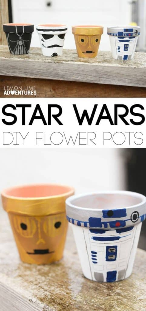 DIY Star Wars Garden Pots by Lemon Lime Adventures