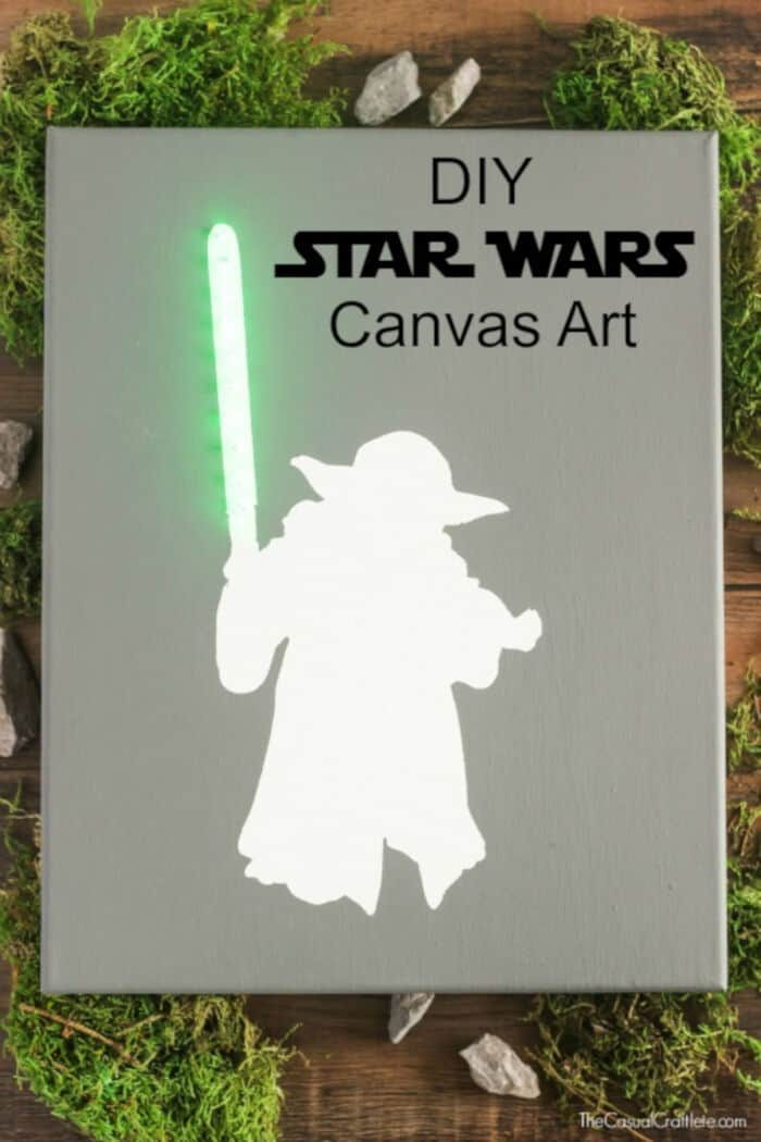 DIY Star Wars Lighted Canvas Art by Purely Katie