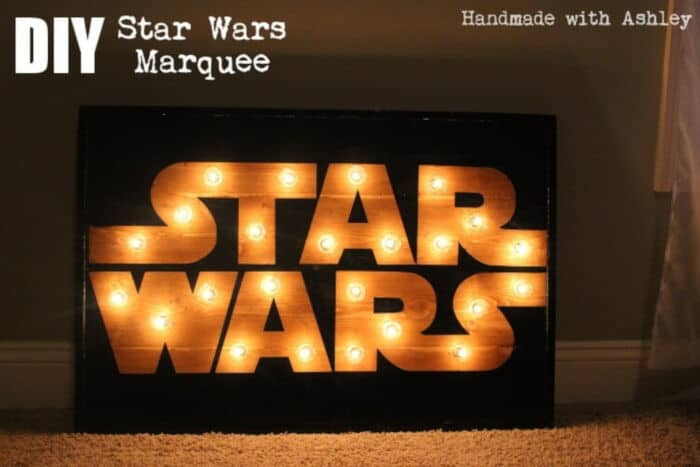 DIY Star Wars Marquee by Handmade with Ashley