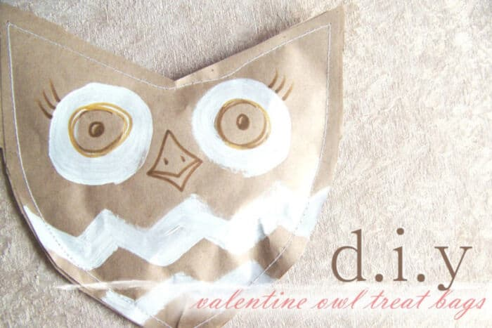 DIY Valentine Owl Treat Bags by Needle and Nest Design