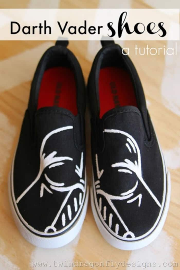 Darth Vader Shoes Tutorial by Twin Dragonfly Designs