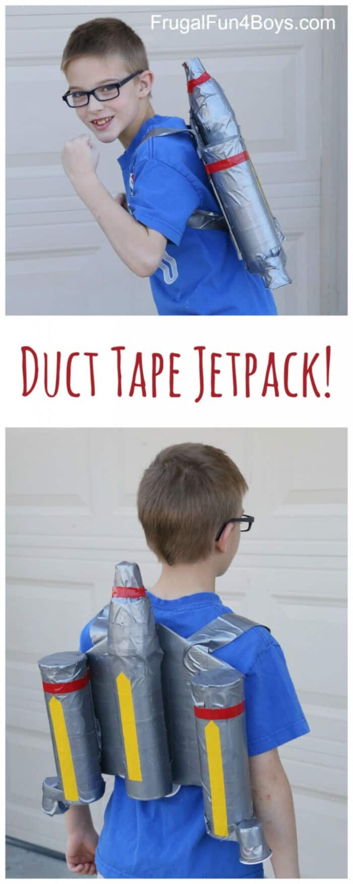 Duct Tape Jetpack by Frugal Fun For Boys